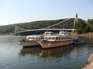 Lodě v přístavišti u Vranovské hráze