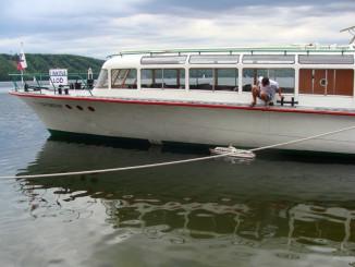 Model lodě DYJE u své větší sestry