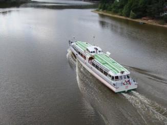 Plavba na Bítov, foceno z Bítovského mostu