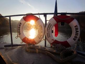 Západ slunce z lodi Vranov